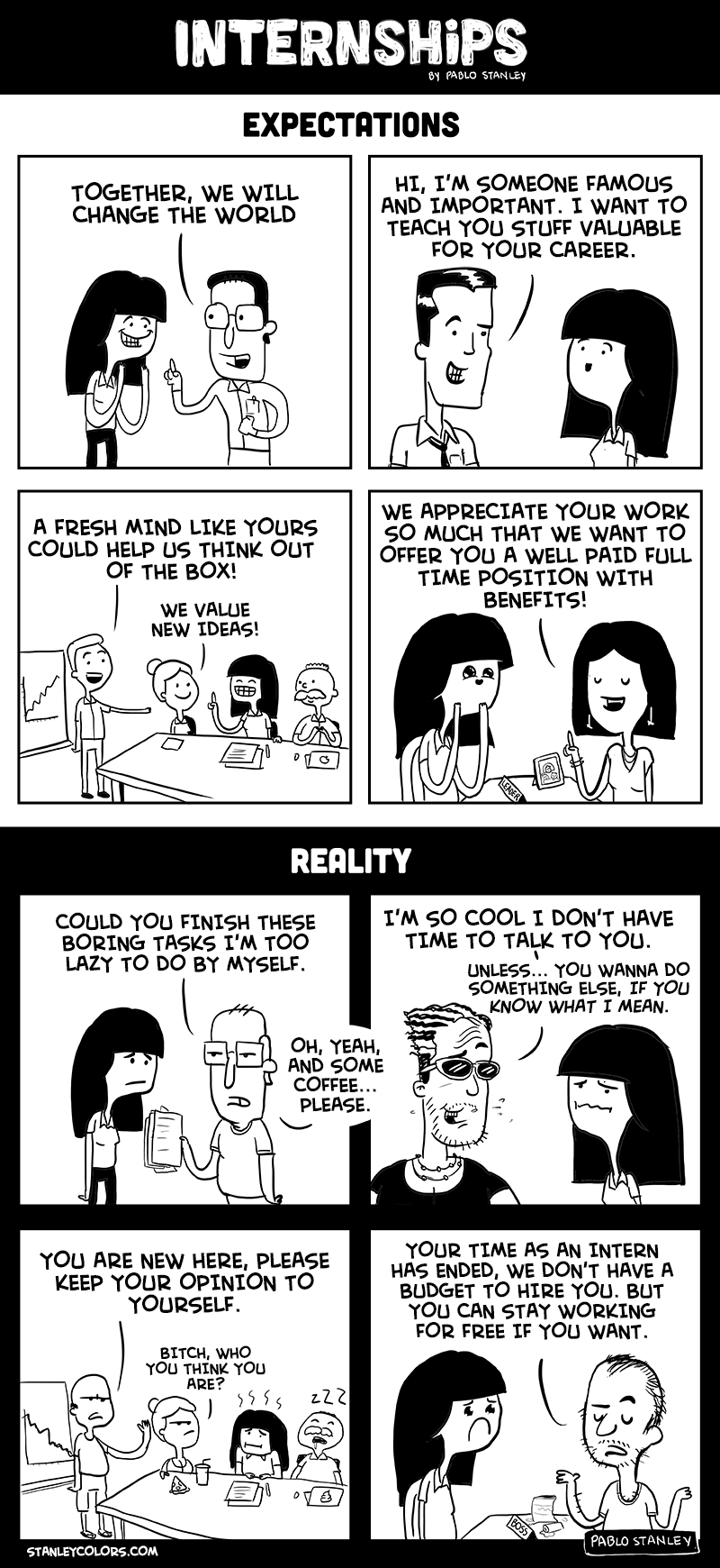 Expectations VS Realities of internships